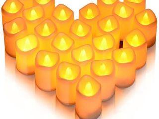 24Pk litake lED Romantic Candles  Flickering lED