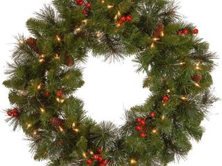 National Tree 24 Inch Crestwood Spruce Wreath with