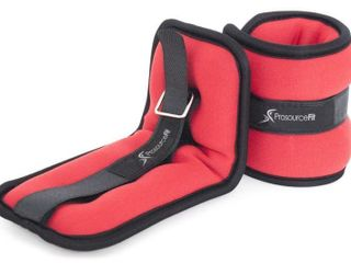 ProsourceFit Ankle Wrist Weights 1 5 lb    Red