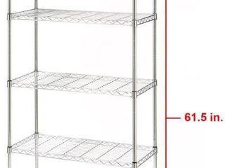 Seville Classics 5 Tier UltraZinc Steel Wire