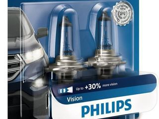 Philips H7 Vision Upgrade Headlight Bulb with up