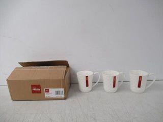 Red Vanilla   Set Of 3 Vanilla Marble Mugs  12oz