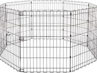 Foldable Metal Pet Dog Exercise Fence Pen   60 x
