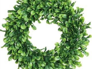 lvydec Artificial Green leaves Wreath   15