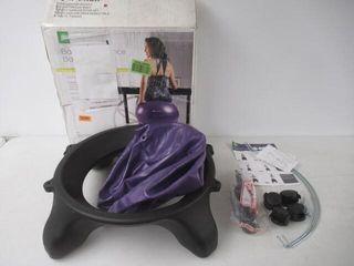 As Is  Gaiam Backless Balance Ball Chair Purple