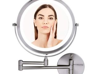 Ovente lED Wall Mount Makeup Mirror 8 5  1X 10X
