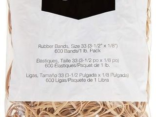 Basics Rubber Bands  Size 33  3 1 2 x 1 8 Inch