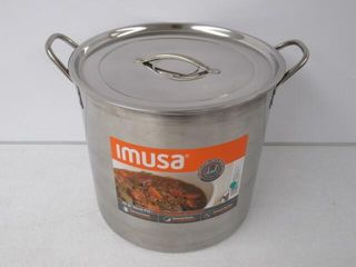 Used  Imusa Stainless Steel Stock Pot  20 Quart