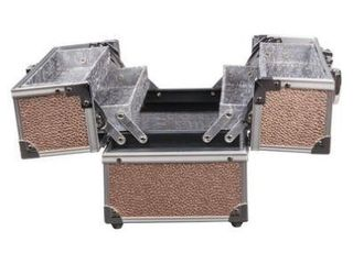 Caboodles Adored 4 Tray Train Case Rose Gold