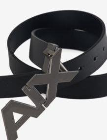 AX Armani Exchange mens 34 Hinge Belt  Blue