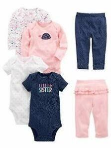 6 PCs Simple Joys by Carter s Baby Girls  0 3M
