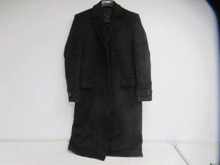 Used  APTRO Men s Xl Wool Blend Trench Coat Full