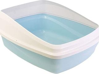 Catit Cat Pan with Removable Rim   Blue   Cool