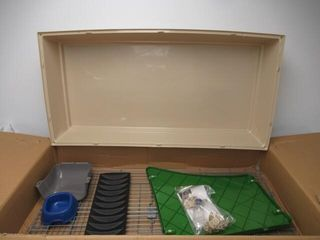 Used  Small Animal Cage Habitat With Accessories
