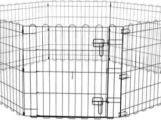 Foldable Metal Pet Dog Exercise Fence Pen With