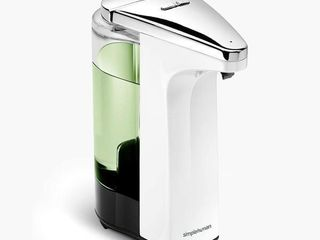 simplehuman 8oz Sensor Pump w  Soap Sample  White