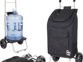 Trolley Dolly  Black Shopping Grocery Foldable