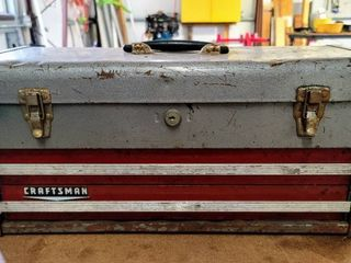 Vintage CRAFTSMAN 2 Drawer Tool Box w Tools