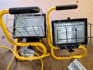 Designer s Edge Portable Work lights   both work