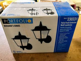 Portfolio 230331 Twin Pack Exterior Wall lanterns   new sealed in box