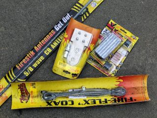 NEW in Package Firestik 5 8 CB Antenna  Tire Repair Plugs   pc Tire Repair Kit  Stake Hole Mount  9 FT RG 58A U Cable