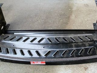 lippert Manual Pull Out Step for RVs   Single   6  Drop   24 1 4  Wide   Steel   300 lbs