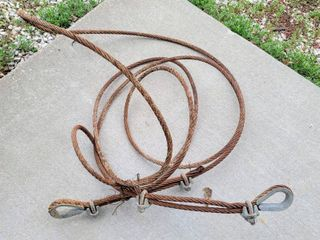 2  Heavy Duty Metal Cables with Steel Eyes