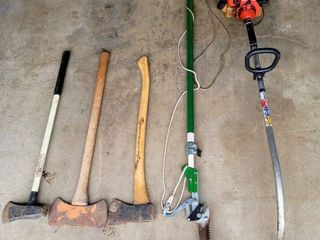 Telescoping Tree Pruner   3  Axes   Bandit Homelite SX 135 Gas Powered Weed Eater  for parts only