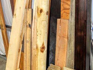 Assorted Wood Boards  Beams  Fencing  Shelving  Scraps
