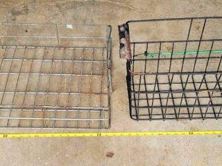 2  Vintage Metal Wire Baskets