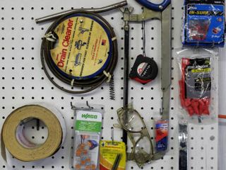 Assorted Hand Tools and Hardware lot  Many items still in packages