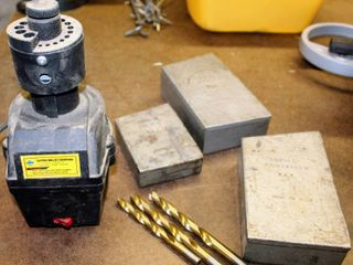 Cummins Electric Drill Bit Sharpener  powered UP   3  Metal Drill Index and Drill Bit Container Boxes  some drill bits included