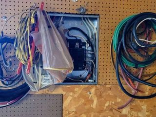 lot of Cables  Wires   Cords   Includes 6 Gauge THHN MTW THWN 600V Green Cable  Hydraulic Hose   More