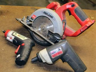 Skilsaw 2575 5 3 8 Circular Saw 14 4V  Skil Cordless Screwdriver 2000  Job Smart 4V lithium Ion Hand Drill   NONE of these have their Chargers