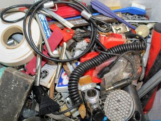 lot FUll of Assorted Tools  Gadgets  and Thingiemabobbers  Hardware  Tools  Gloves  and more