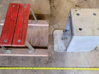 Metal Dirt Bike Stand and Rolling Shop Stool