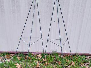 2  Tall Pyramid Plant Cages Trellises