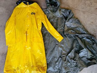 Camo Green Survival Raincoat Camping Poncho   Mechanix Wear Yellow Rain Coat Jacket