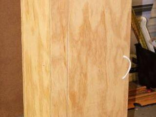 Handmade Wooden Storage Cupboard   Measures 60  T x 16  W x 9 5  D
