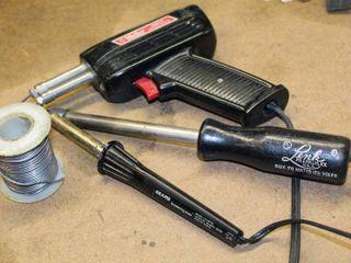 Sears Soldering Iron 120 Volts 30 Watts  Vintage Weller 8200 100 140 Watts Soldering Gun  lenk 88K 75 Watts 120 Volts Electric Soldering Iron