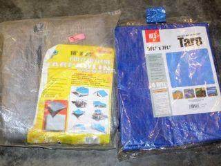 2  New Tarps  18  x 24  Tarpaulin  5  x 7  Weather Resistant Tarp  NEW in package