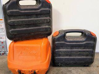 3  Hardside Tool Cases   Skilsaw  Black   Decker   FireStorm by Black   Decker