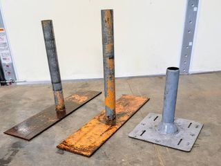 3  Metal Pole Holders   Tents  Signs etc