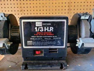 Sears Craftsman 1 3 HP 6 in  Bench Grinder