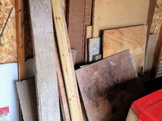 large lot of Scrap Wood   Peg Board