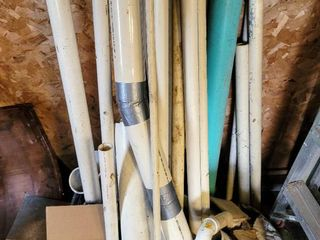 large lot of PVC Pipes and Connectors