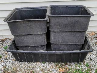 3  Heavy Duty Black Plastic Outdoor Containers