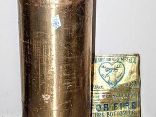 Elkhart Brass MFG  CO  Fire Extinguisher and Plaque   Not working condition