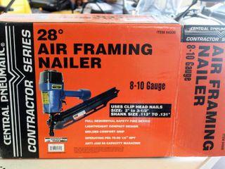Central Pneumatic Contractor Series 28 Degree Air Framing Nailer 8 10 Gauge