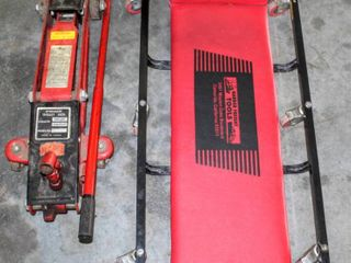 Hydraulic Trolley Jack 3000 lBS and Harbor Freight Tools Roll Floor Dollie